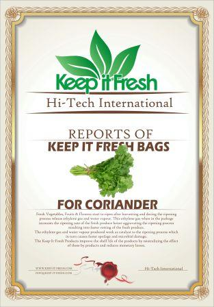KIF Bags for Coriander