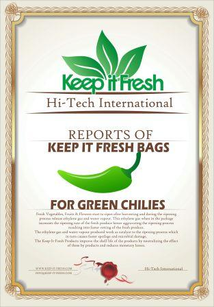 KIF Bags for Green Chilies